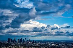 LA Sky (mikalo79) Tags: city blue sky storm weather clouds zeiss landscape losangeles nikon downtown