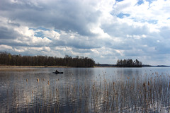 Lake Kosen, Sweden (farukb) Tags: sea seascape nature clouds reflections landscape countryside sweden lakes