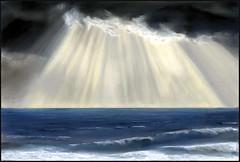 SQUALL (KING JOHN 1) Tags: sea seascape squall painting seaside waves pastel scape jak bognorregis johnking pastelpainting
