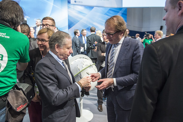 Jean Todt and Alexander Dobrindt networking