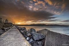 Sun setting at Coffs Habour Marina (mvhc88) Tags: ocean sunset holiday beach marina nikon cloudy d750 tamron coffsharbour