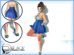 Ready For My Close Up With Moda and Aura Blue @ Phat Fashion  ('s ) Tags: mesh moda belleza newness slink aurablue phatfashion