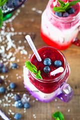 Psyllium Coctail with Berry Puree (AlenaKogotkova) Tags: summer food breakfast healthy berry berries drinks jar smoothie puree kefir foodphoto healthybreakfast healthyeating psyllium foodstyling oudding