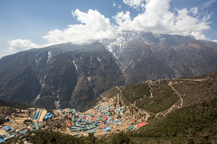Namche Bazaar (D A Scott) Tags: nepal camp mountains trek asia everest base himalayas