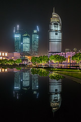 Around Burj Khalifa (Mohamed Haykal) Tags: camera leica lake reflection downtown dubai united uae emirates arab ag mm q address mohamed 280 f17 emaar haykal