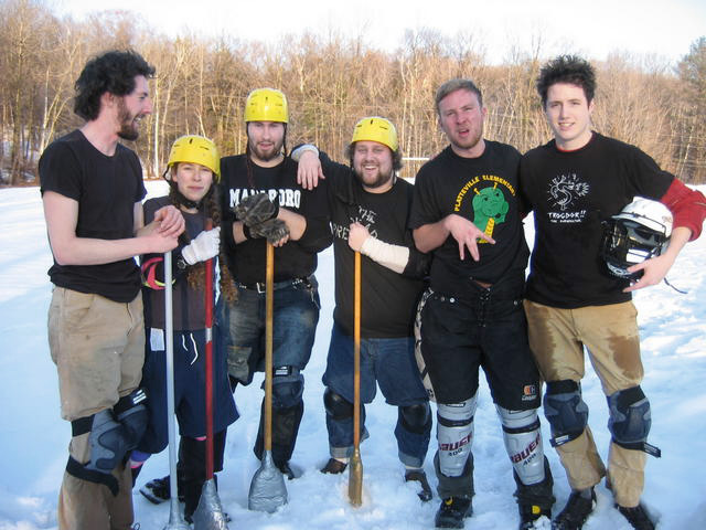 A Broomball team