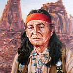 "<b>Nino Cochise</b><br/> Douglas Weaver (1923-) ""Nino Cochise"" Oil, n.d. LFAC #961<a href=""http://farm8.static.flickr.com/7059/6779928428_0d870b7640_o.jpg"" title=""High res"">∝</a>"