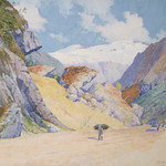 "<b>Mountain Landscape</b><br/> Ben Blessum (1877-1954) ""Mountain Landscape"" Watercolor, 1903 LFAC #066<a href=""http://farm8.static.flickr.com/7059/6779985266_83c6594a3f_o.jpg"" title=""High res"">∝</a>"