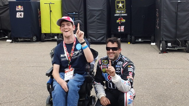 Tony Stewart and a NASCAR Dreams fan