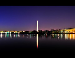 Washington Monument at Purple Dust (Yohsuke_NIKON_Japan) Tags: winter usa reflection monument water night america washingtondc dc washington pond nikon purple nightview dust washingtonmonument  magichour zoomlens  tidalbasin 1635mm  dc  d300s nanocrystalcoat