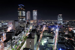 NAGOYA STATION (Shin-Nagoya) Tags: longexposure japan lowlight asia nagoya nightview nightphoto   aichi birdseyeview afterdark  citynight lighttrail nagoyastation lightstream urbannight nightimage  localstreet carlighttrail nightcityscape afsnikkor1424mmf28g