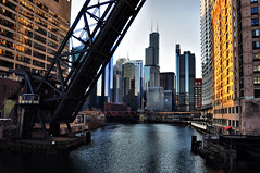 Classic Wolf Point View in HDR (Seth Oliver Photographic Art) Tags: light chicago buildings reflections landscapes iso200 illinois nikon midwest skyscra