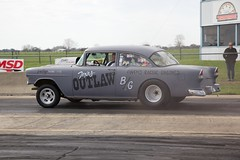 55 Drag Car (Bill Jacomet) Tags: park classic 1955 drag texas run racing 2nd chevy madness legends and nostalgic rod 55 motorsports lonestar drags dragracing cruisers 2012 gasser sealy 50ees niftee