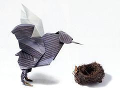 Origami création - Didier Boursin - Oiseau