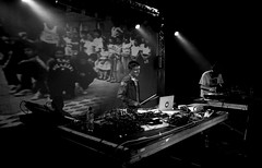 DJ Format at the Concorde 2 5 (maxcady808) Tags: blackandwhite film brighton gig 35mmfilm concorde scanned djformat contaxg2 thesimonsound