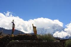 Pray Flags on a Multi sport treking Mountain biking rafting kayaking trip in Nepal