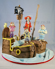 Jake & the Neverland pirates (Dot Klerck....) Tags: southafrica boat capetown disney dot birthdaycake wellington captainhook mrsmee jakeandtheneverlandpirates eatcakeparty