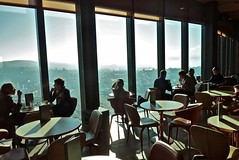 Sunny morning in Prime Tower Bistro,  Zrich (Sekitar) Tags: morning tower prime view sunny bistro architect zrich pemandangan gigon guyer