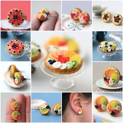 Improved Miniature Fruit tart (PetitPlat - Stephanie Kilgast) Tags: summer fruit necklace jewelry polymerclay patisserie pastry earrings minifood pendant fruittart fruitpie miniaturefood fauxfood petitplat ptepolymre tartesauxfruits tartelettesauxfruits stpehaniekilgast