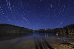 The Skies Over Lake Hope (player_pleasure) Tags: night stars tripod stacked startrails