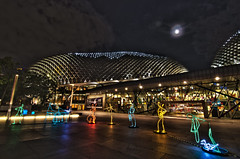 I light Marina Bay - esplanade (Wang Guowen (gw.wang)) Tags: lighting longexposure reflection nikon singapore cityscape nightscape nightshot postcard esplanade merlion 2012 lightfestival singaporeskyline ilight cs5 singaporeflyer marinabaysands d7000 tokinaaf1116mmf28 tokinaatx116f28 ilightmarinabay gwwang wwwon9cloudcom
