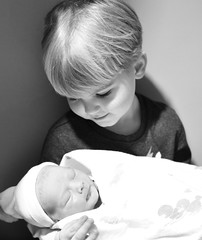 Meeting My Brother (Cathy de Moll) Tags: baby birth newborn louden
