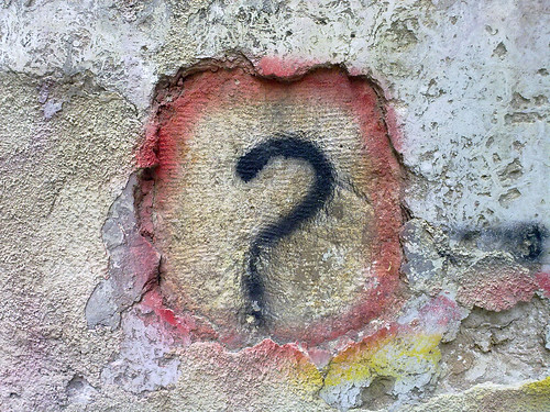 Question Mark Graffiti by Bilal Kamoon, on Flickr
