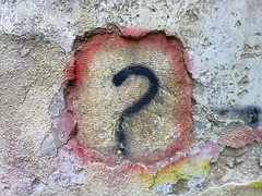 Question Mark Graffiti (Photo credit: Bilal Kamoon)