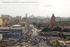 Empress Market Karachi (Raja Islam) Tags: road plaza old pakistan people heritage history architecture traffic stuck market rush empress jam mcb karachi sind sindh crowed saddar singal