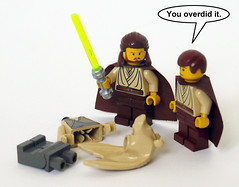 You Overdid It (Oky - Space Ranger) Tags: star funny lego it master jedi jar obi lightsaber wars phantom wan clone menace qui gon binks jinn kenobi padawan overdid