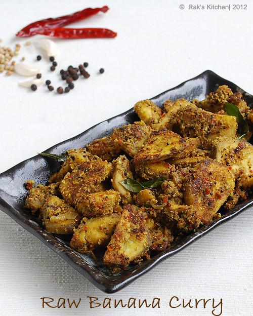 Raw banana dry curry