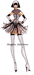 'Queen of The Night' by Hayden Williams. R.I.P Whitney Houston 1963 - 2012 (Fashion_Luva) Tags: fashion illustration queenofthenight 2012 1963 whitneyhouston haydenwilliams