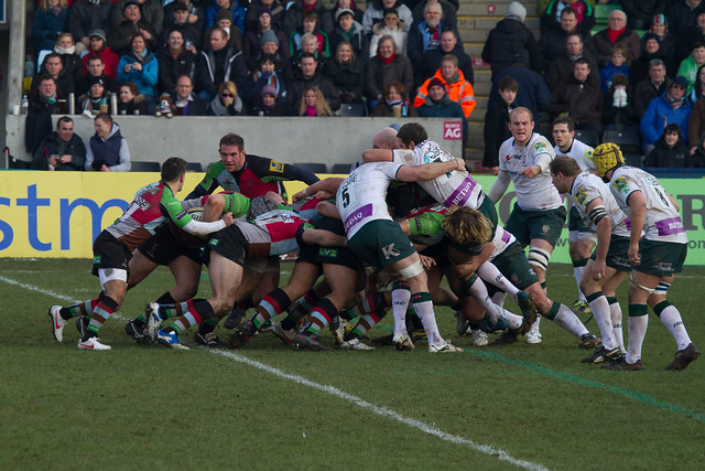 Quins' scrum dominant!