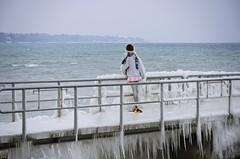 Isn't It A Little Bit Too Cold ... (AincaArt) Tags: people ice vent schweiz switzerland suisse wind quay eis quai glace lakegeneva versoix lacléman genfersee magicice yabbadabbadoo bise mungga nikond7000 bisenoir zaubereis isntitalittlebittoocold aincaart