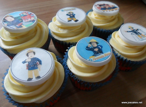 Fireman Sam Picture Cupcakes