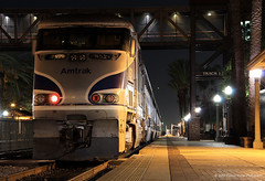 Surfliner, night side (Patrick Dirden) Tags: california nightphotography railroad light night tr