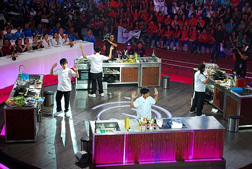 The final hands-up---Junior MasterChef Pinoy Edition Finale The Live Cook-off
