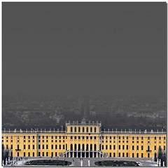 Lost horizon (Nespyxel) Tags: vienna wien building yellow fog cutout austria giallo nebbia palazzo hofburg palazzoreale losthorizon nespyxel stefanoscarselli