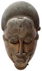 10Y_0924 (Kachile) Tags: art mask african tribal côtedivoire primitive ivorycoast gouro baoulé nativebaoulémasksaremainlyanthropomorphicmeaningtheydepicthumanfacestypicallytheyarenarrowandfemininelookingincomparisontomasksofotherethnicitiesoftenfeaturenohairatallbaouléfacemasksaremostlyadornedwithvarioustrad