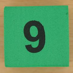 Foam brick number  9 (Leo Reynolds) Tags: canon eos iso100 nine 9 number 60mm f80 group9 onedigit number9 groupnine 0125sec 40d hpexif numberset grouponedigit xsquarex xleol30x