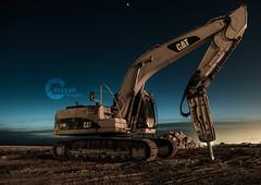 The Monster (Ateyah J. Hujaili) Tags: monster night cat photoshop truck canon saudi arabia shutter 2012 lightroom ksa dredger yanbu d600 600d  cs5    alhujaili ateyah