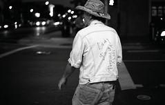 GaGa (arterial spray) Tags: sanfrancisco blackandwhite man film hat lady canon fan cowboy jean kodak trix jacket 400 forever ladygaga
