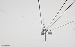 Gliding . . . (Astrid Photography.) Tags: winter snow france cold nature lines fog frost savoie mountian chairlift lesmenuires minimalisme les3vallees lesgranges astridphotography