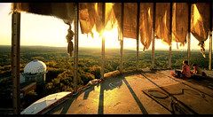 Post apocalyptic sunset in Teufelsberg - Germany (kryyslee) Tags: travel sunset orange berlin station canon germany deutschland eos view post decay military sigma mm christophe 8mm allemagne apocalyptic grunewald echelon nsa teufelsberg postapocalyptic 816 50d kryyslee paquignon