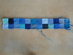 Two of 13 rows (crochetbug13) Tags: blue acrylic crochet nanasquare royalsisters