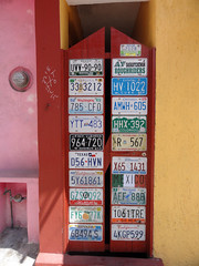 Around America (Alexa Marcigliano) Tags: door mexico island license plates mujeres isla