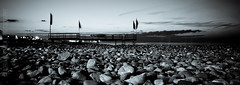 the ghost on the sea (Adriano Perla) Tags: sunset sea stone photoshop canon eos lights tramonto mare stones ghost pietre panoramica luci perla fantasma molo adriano bari vento lightroom bandiere passerella 60d adrianoperla perlaadriano potd:country=it