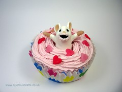 Cupcake Mouse (Quernus Crafts) Tags: pink mouse cupcake frosting polymerclayquernuscraftscute