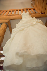 "Greer Wedding at Molly's - Dress in cabin • <a style=""font-size:0.8em;"" href=""http://www.flickr.com/photos/77555780@N03/6964617444/"" target=""_blank"">View on Flickr</a>"