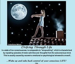 life-quotes -Sleepwalking (EmbellishedMinds) Tags: life control consciousness drifting sleepwalking lifequotes
